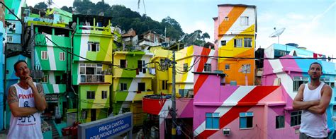 colorful houses painting favela painting in rio de janeiro brazil a project