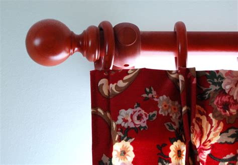Curtain Pole Round Rustic Wood Curtain Design