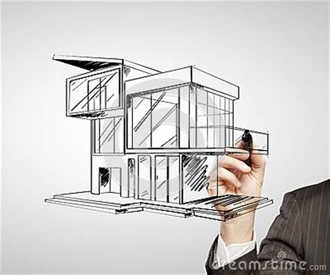 modern house drawing drawing modern house royalty free stock images image