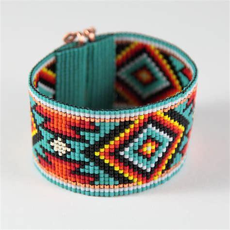 jemez bead loom bracelet bohemian boho artisanal jewelry