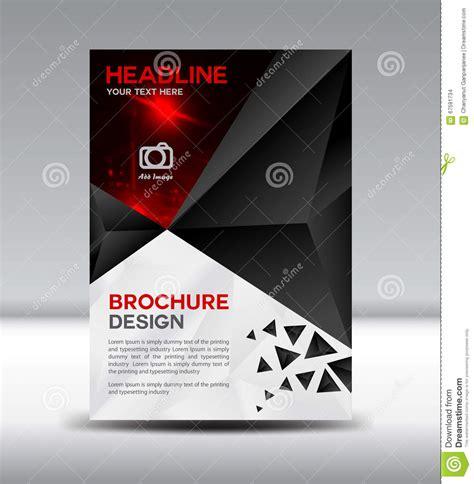 black vector brochure flyer magazine and leaflet design on