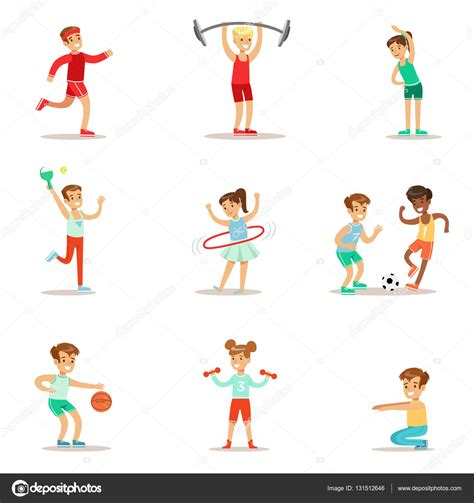 imagenes niños haciendo educacion fisica ni 241 os practicando diferentes deportes y actividades