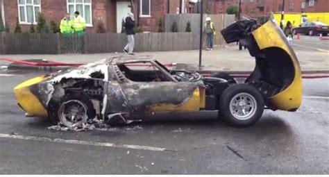 Watch A Priceless Lamborghini Miura Burn To The Ground In