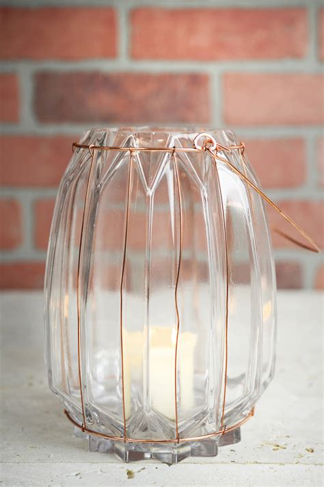 Wire Vases by Chico Glass Copper 7 5in Wire Vase Candle Holder
