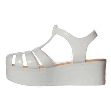 onlineshoe retro jelly gladiator sandals chunky platform