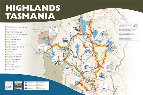 australia touring map highlands tasmania touring map central highlands council