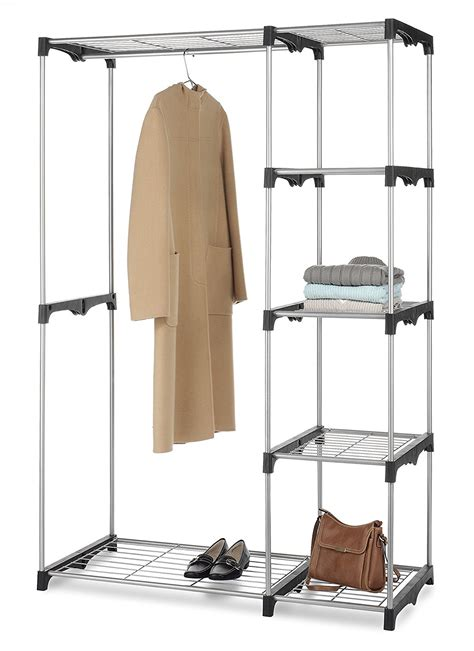 organizer rack storage rod closet garment jacket
