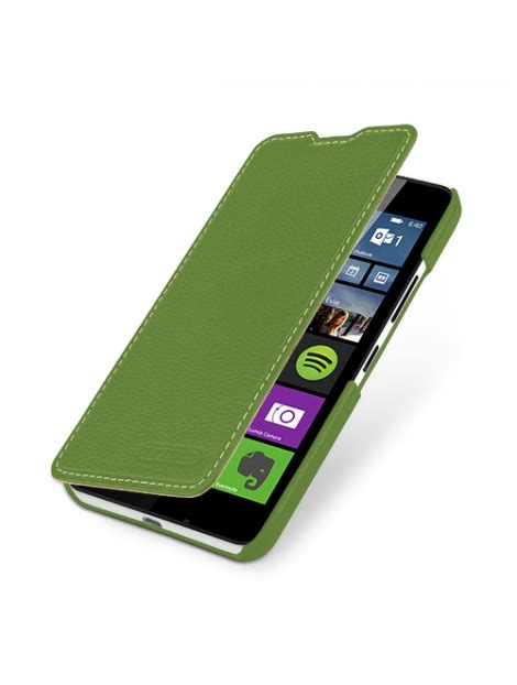 Microsoft Lumia Premium tetded premium leather for microsoft lumia 640 640 dual sim dijon ii lc green