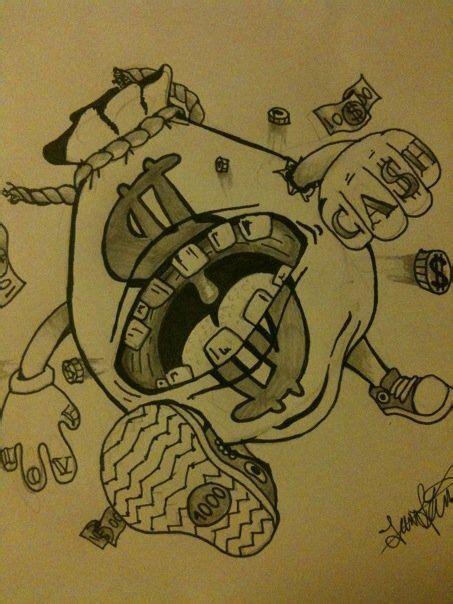 money bag tattoos money designs thigh tattoos for money bag