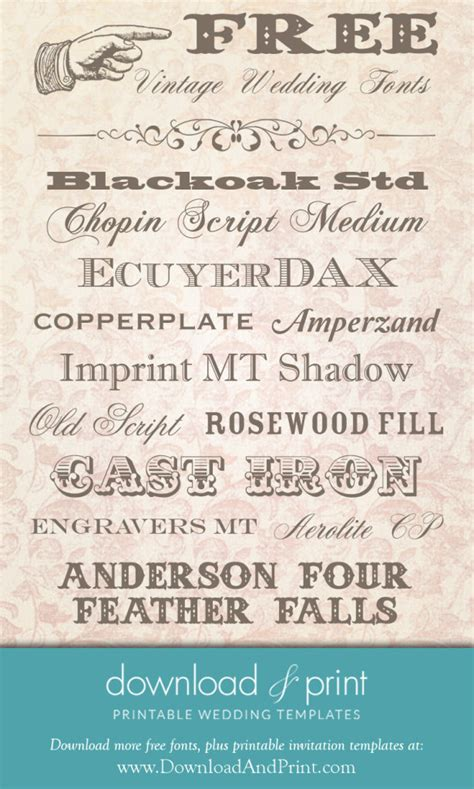 printable rustic fonts free vintage wedding fonts download and print