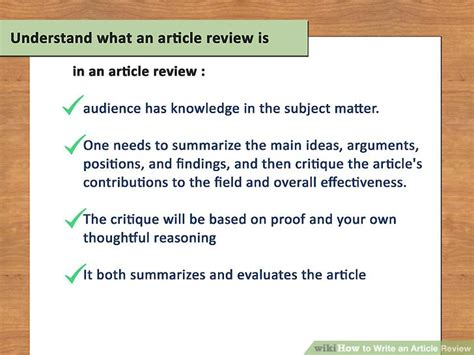 Writing Review Articles by How To Write An Article Review With Sle Reviews Wikihow