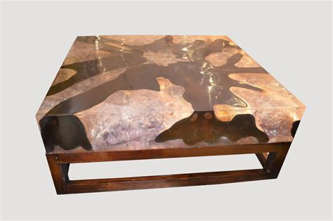 Resin Coffee Table Cracked Resin Coffee Table For Sale At 1stdibs