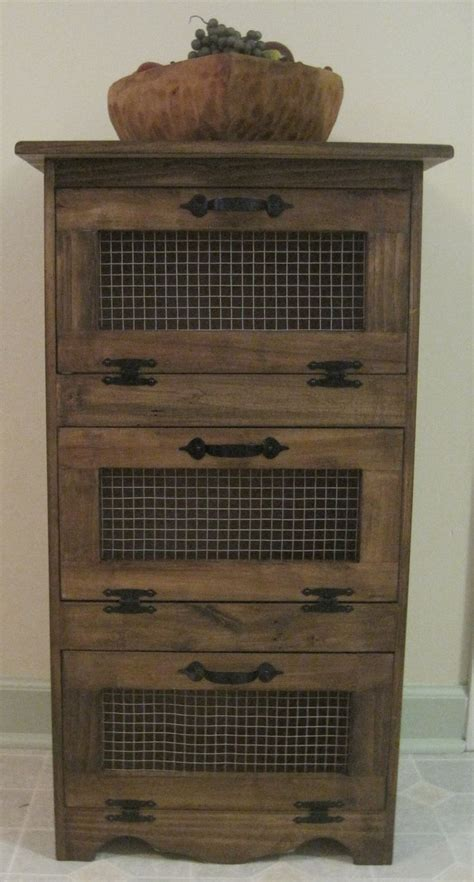 rustic vegetable bin storage cupboard kitchen ideas