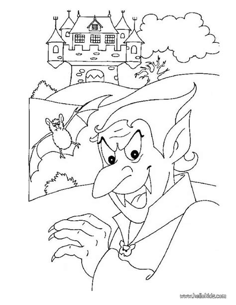 halloween coloring pages castle vampire coloring pages dracula and his haunted castle