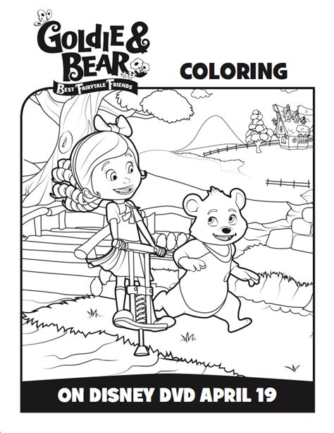 cranky bear coloring pages gambar review disney goldie bear fairytale friends dvd