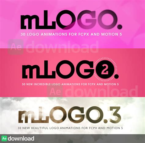 motion 5 free templates motionvfx mlogo 1 2 3 for motion 5 and cut pro
