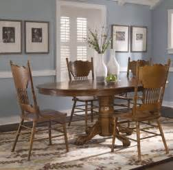 Oak Dining Room Set by Liberty Furniture Indastries Nostalgia 5 Piece Oval Dining