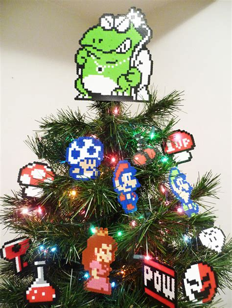 geeky christmas trees through the ages technabob