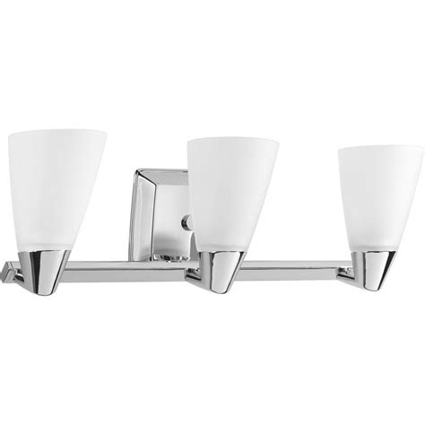 Chrome Vanity Light Fixtures Progress Lighting Rizu Collection 3 Light Polished Chrome