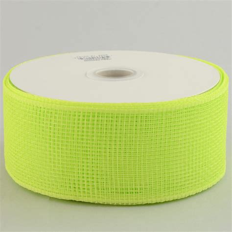 Poly Apple 2 5 quot poly mesh ribbon apple green rs200056