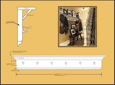 Crown Molding Coat Rack by Best 20 Crown Molding Shelf Ideas On Wall