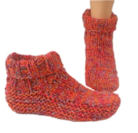 basic knit slipper pattern country slipper socks knitting pattern