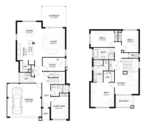 small two story floor plans fresh modern 2 storey house