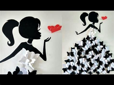 diy room decor ideasmaking girl  butterfly dresswall
