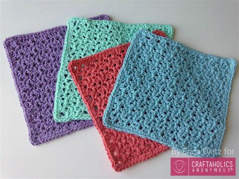 crochet washcloth instructions craftaholics anonymous 174 how to crochet washcloths tutorial
