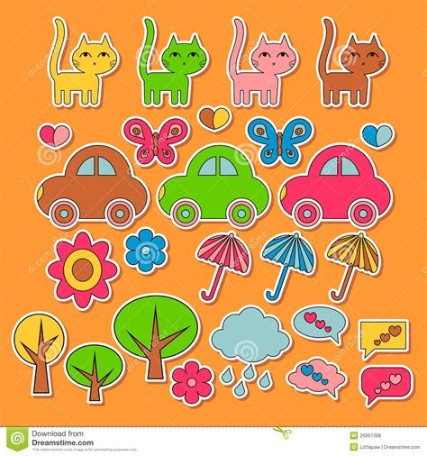 imagenes infantiles coloridas etiquetas engomadas infantiles coloridas lindas fotos de
