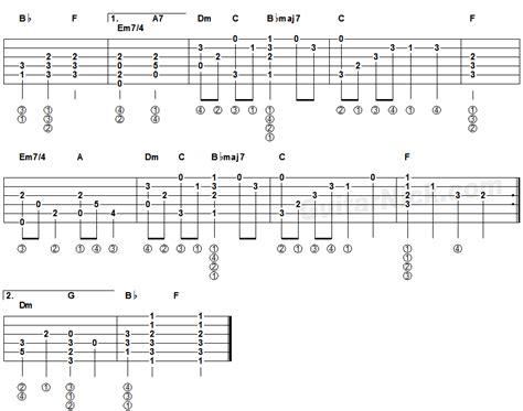 fingerstyle chord tutorial yesterday beatles fingerstyle guitar tablature 2