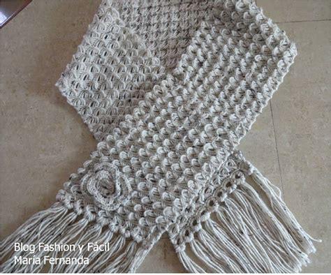 como hacer bufandas tejidas en gancho bufandas a gancho faciles