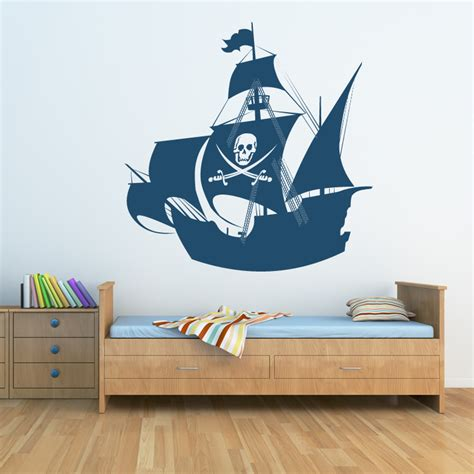 pirate ship transport wall sticker wall