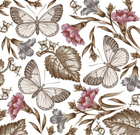 floral pattern for photoshop free download butterfly flower pattern vector material my free