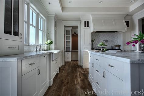 veranda interiors calcutta gold marble counters transitional kitchen