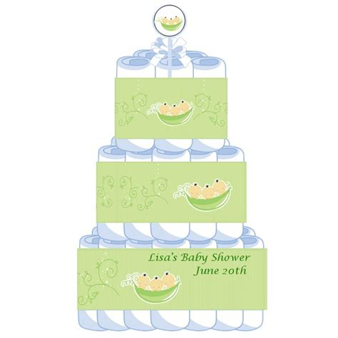 Three Peas In A Pod Baby Shower by 3 Tier Triplets Three Peas In A Pod Asian Baby Shower