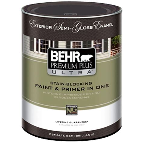 behr paint behr premium plus 1 qt ultra pure white hi gloss enamel