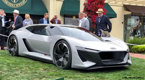 pebble beach  debut audi pb  tron concept