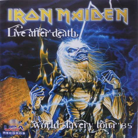Rok Onde 1215 cd iron maiden live after world slavery tour lacrado