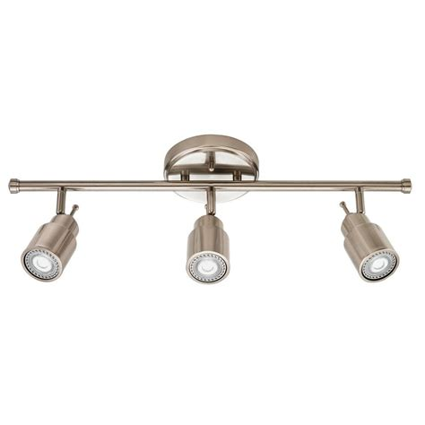lithonia lighting 2 ft 3 light brushed nickel led track