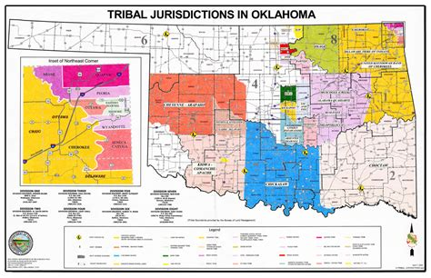 american tribes in oklahoma by map inter tribal council of eastern oklahoma nine tribes