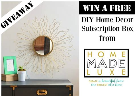 home decor subscription box free diy home decor subscription box giveaway the bajan