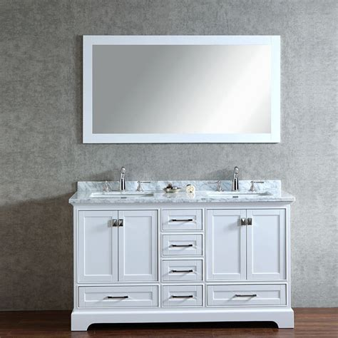 carolina 60 white sink vanity by lanza stufurhome 60 quot newport white sink bathroom vanity