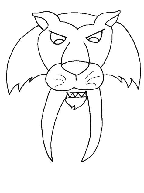 coloring page saber tooth tiger saber tooth tiger coloring pages coloring home