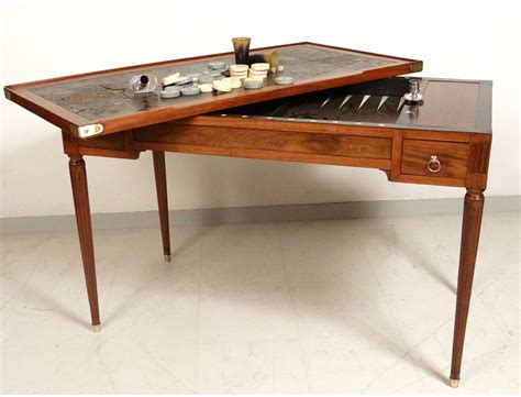 Louis Xvi Table by Table Backgammon Louis Xvi Mahogany Golden Brass