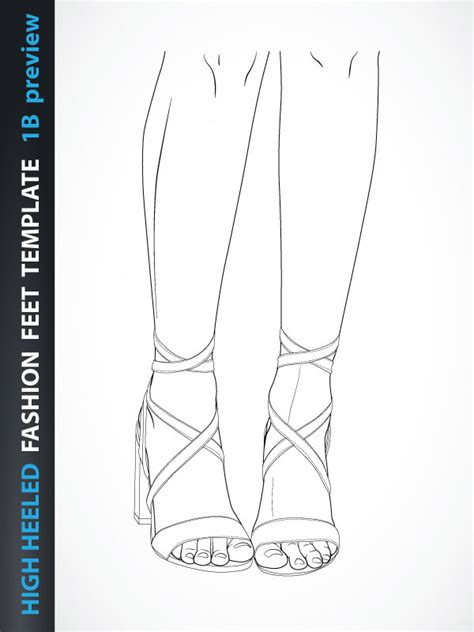 high heel shoe design template high heeled fashion template 1b fashion design
