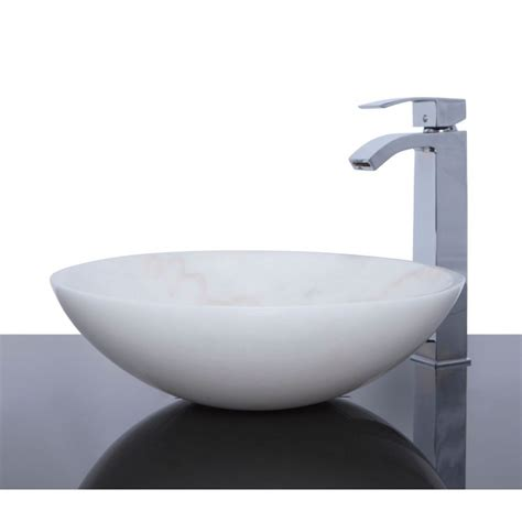 basin sink white marble stone round wash basin sink free waste