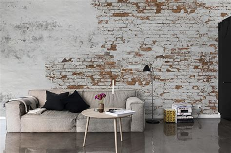 Design Tiles For Kitchen by Plaster Brick Wall Design Murals Behangfabriek