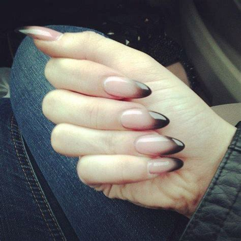 how to do ombre stiletto nail clear to black ombre nails nails