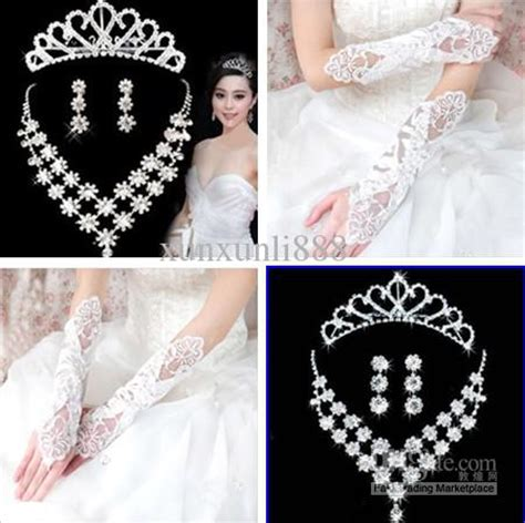 cheap wedding accessories glove with bridal jewelry